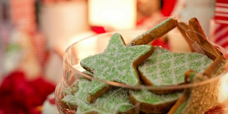 Christmas cookies are a nice touch in a staged home